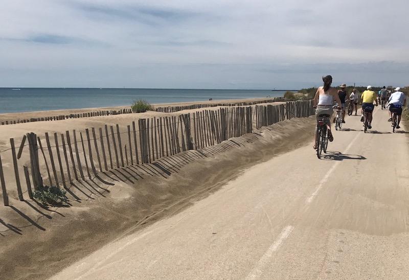 Beziers in bici lungo il mare