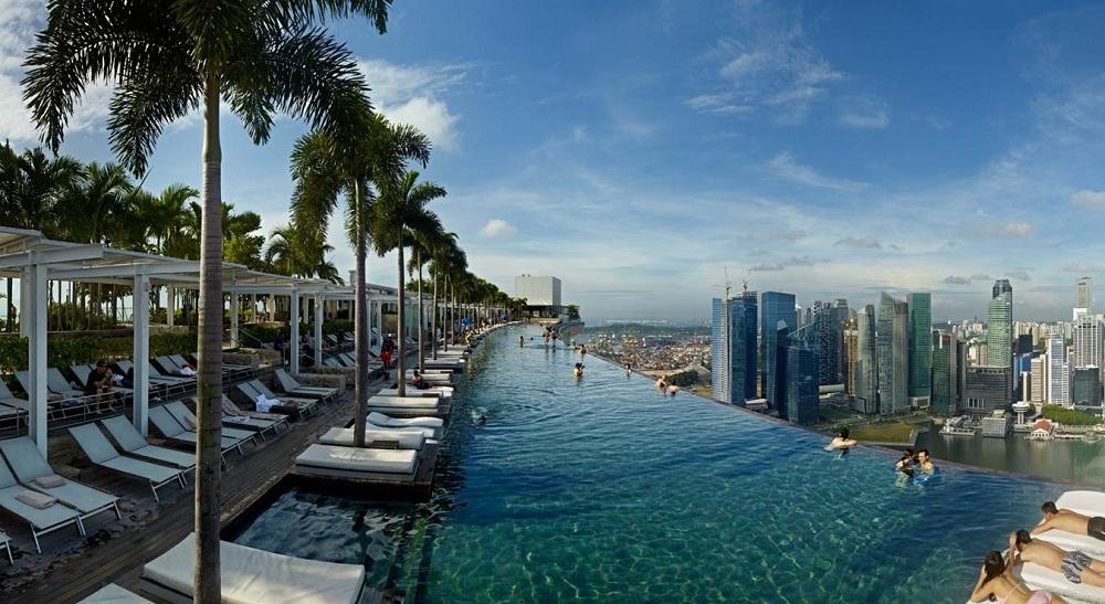 Marina Bay Pool In Singapore Architecture Pinterest
