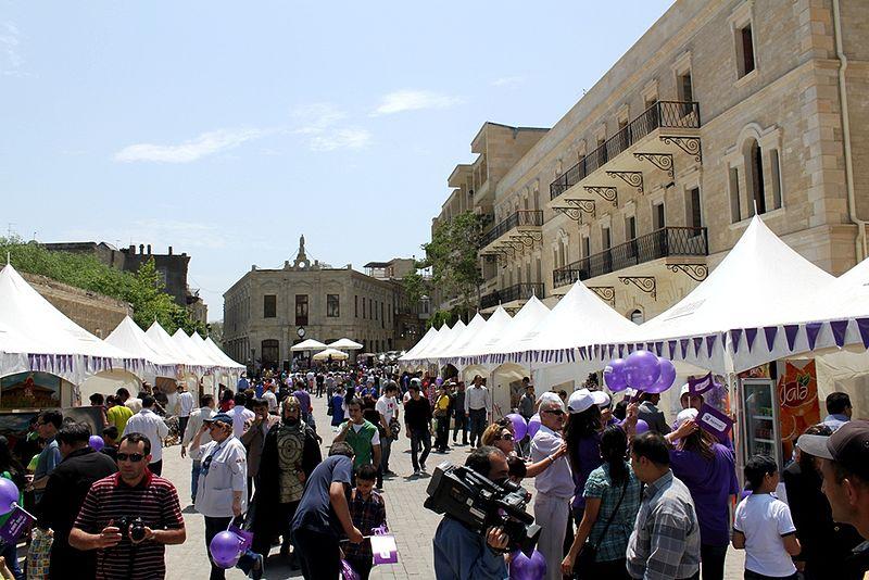 Baku mercato nella Citta Vecchia