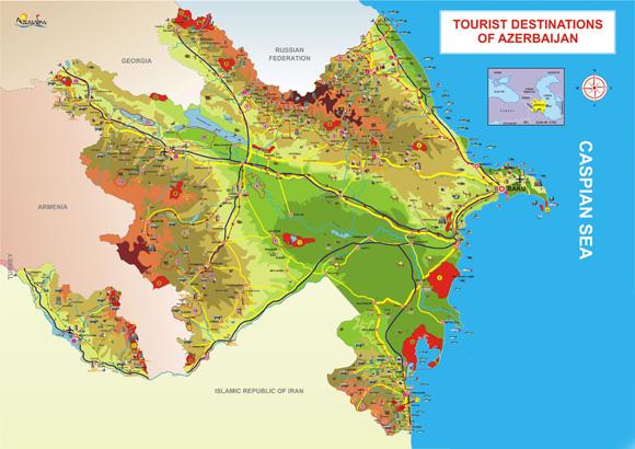 Mappa turistica Azerbaijan_Ministero del Turismo