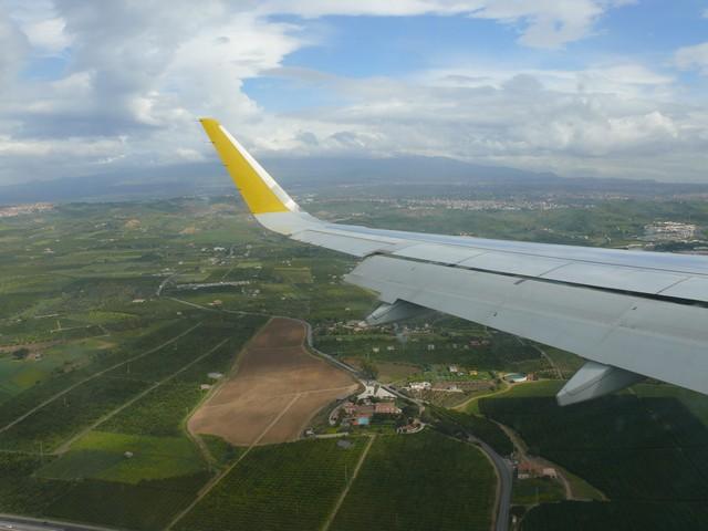 in volo sopra Catania