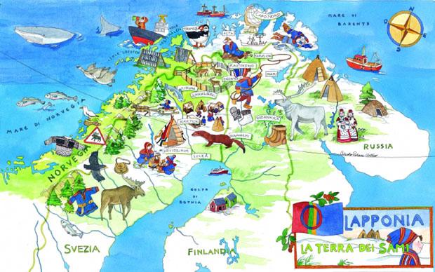 Cartina Fisica Della Norvegia.Andiamo In Lapponia Si Ma Dov E Viaggivacanze Info