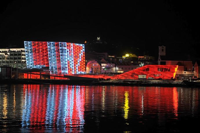 AEC Aussenansicht Nacht1(c)Stadt Linz
