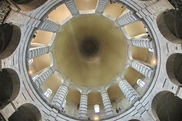 Pisa, Battistero, interno, cupola