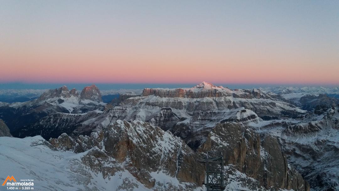 Marmolada, in cima alle Dolomiti