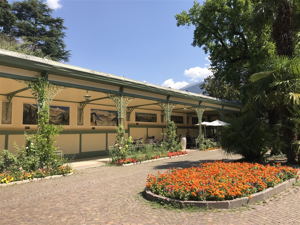 Merano, giardino fiorito